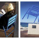 La chaise bleu
