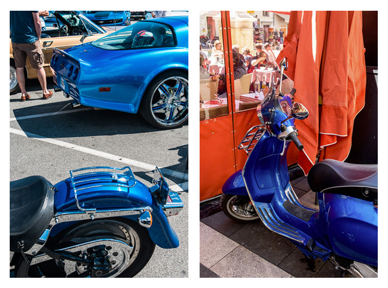 moto bleu